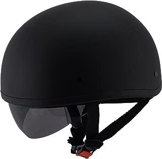 Milwaukee Performance Helmets Unisex-Adult Half Air Stream Helmet (Matte Black, Large)