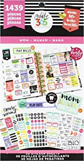 me & my BIG ideas PPSV-06 Create 365 The Happy Planner Sticker Value Pack Planner, Mom Life, 1439 Stickers