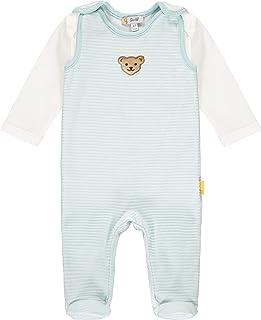 Steiff Baby-Jungen Mit Süßer teddybärapplikation Set Strampler  T-Shirt Langarm