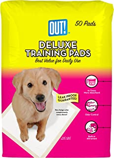 OUT! Deluxe Dog Training Pads with Baking Soda, 50-Count