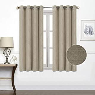 North Hills Premium Soft Short Curtains with Cashmere Textured, Grommet Room Darkening Short Window Curtains Drapes for Bedroom 52