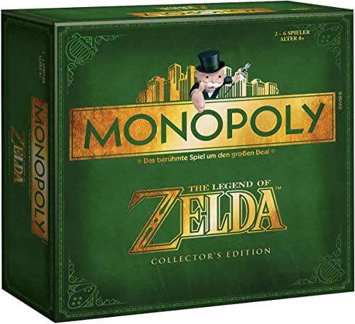 Winning Moves 44093 - Monopoly  Zelda Collector's Edition (deutsch) Square Box [Import allehommed]