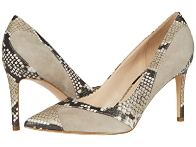 Nine West Elysa (Taupe Suede/Snake Print) High Heels