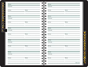 AT-A-GLANCE Telephone / Address Book, Large Print, 500 Entries, 8.38 x 5.38 Inches, Black (80LP1105)