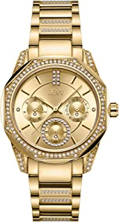 JBW Luxury Women's Marquis 5 Diamonds Faceted Bezel Metal Watch - J6369A