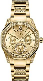 JBW Luxury Women's Marquis 5 Diamonds Faceted Bezel Metal Watch - J6369A