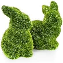 Osterhase mit Korb  Natur Gras 19cm Ostern Deko Hase Tischdeko Osterdeko Figuren
