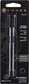 Cross Refills for Ballpoint Pens, Medium, Black Ink, 2/Pack (85132)
