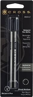 Cross Ballpoint Pen Refill, Medium Black, 2 Per Card (8513-2)