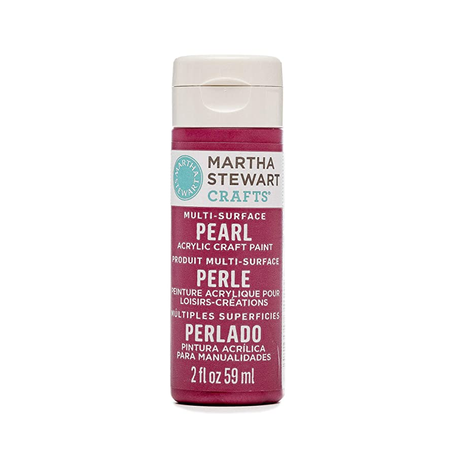 Martha Stewart Crafts Multi-Surface Pearl Acrylic Craft Paint in Assorted Colors (2-Ounce), 32115 Fruit Punch