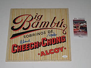 Cheech and Chong signed Big Bambu Album Record Vinyl LP JSA Witness #WPP577617
