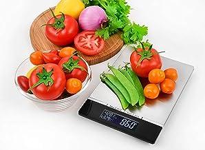 Venga! Balance de Cuisine de Précision, jusqu'à 5kg, Plateau en Acier Inoxydable, avec Capteur de Température et Horloge, ...