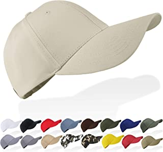 Tinya Baseball Cap Men Women: Solid Plain Adjustable Sports 100% Cotton Long Brim Strap Buckle Structured Fit for Youth Bo...