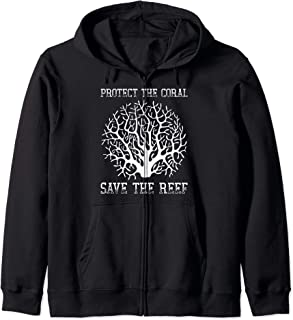 Protect the coral, Save the Reef Earth Day 2020 Zip Hoodie