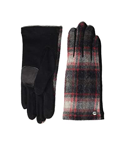 Echo Design Heritage Plaid Gloves Water Replellent Palm (Black) Extreme Cold Weather Gloves