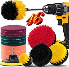 16 Piece Drill Brush Attachment Set, BRITOR Power Scrubber Drill Brush Kit with Extend Long Attachment, Scrub Pads & Spong...