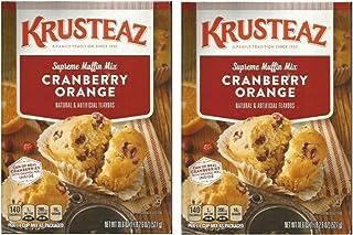 Krusteaz Supreme Muffin Mix Cranberry Orange 18.6 oz ( 2 PACK)