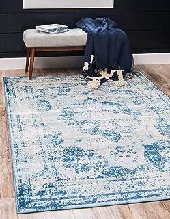 Unique Loom Sofia Collection Traditional Vintage Blue Area Rug (7' x 10')