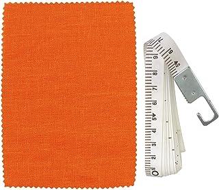 [カーテンくれない] 14色×140サイズ【麻カーテン】100%日本製麻生地だけを使用 気持ちいいがいっぱいつまった「AsaFine」アサファイン オーダー【カーテン生地サンプル請求】 色:にんじん