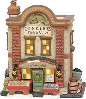 Department 56 Dickens Village Odin R. Hicks Fish & Chips Lit House
