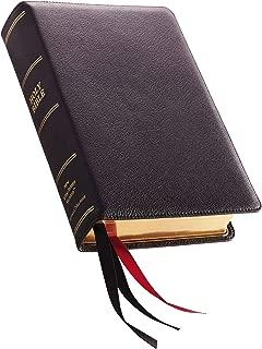 NKJV, Single-Column Reference Bible, Premium Goatskin Leather, Black, Premier Collection, Comfort Print: Holy Bible, New King James Version