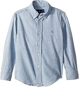 Indigo Cotton Chambray Shirt (Little Kids/Big Kids)