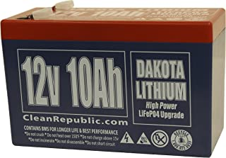 12 Volt Rechargeable Lithium Battery - 12 V 10 Ah - LiFEPO4