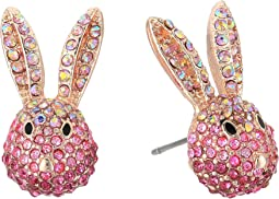 Betsey Johnson - Pink and Rose Gold Bunny Stud Earrings