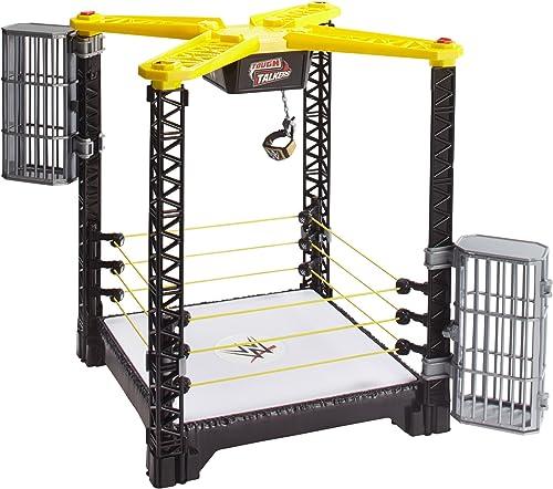 Mattel FFH41 WWE Tough Talkers Championship Takedown Ring Spielset, Spielzeug ab 6 Jahren