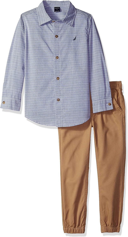 Nautica Boys 2 Pieces Shirt Pants Set