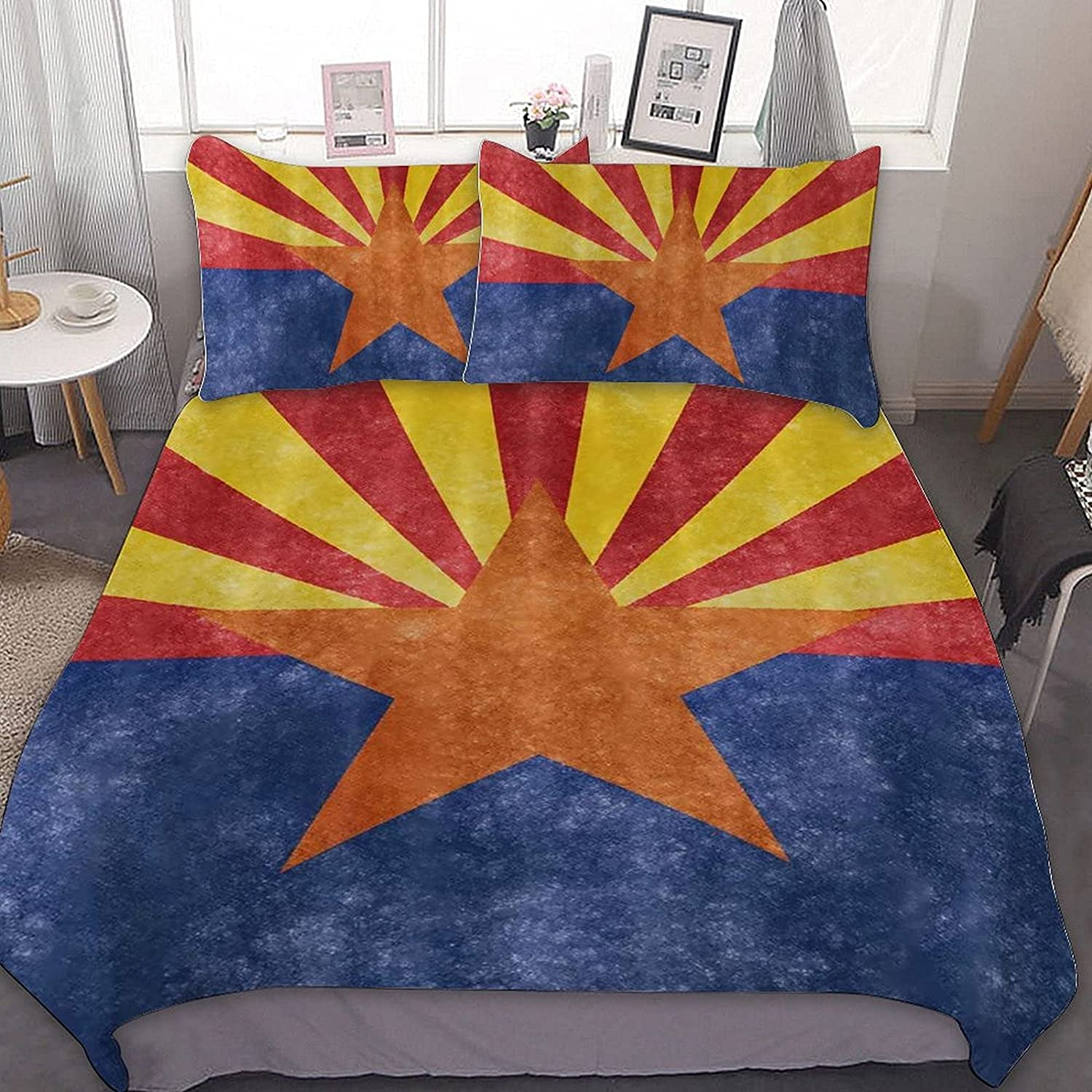 5 ☆ NEW before selling ☆ very popular PNNUO Flag of Arizona Queen Bed Full Comforte Twin King Set Size
