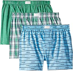 Cotton Classics 3-Pack Classic Fit Woven Boxer