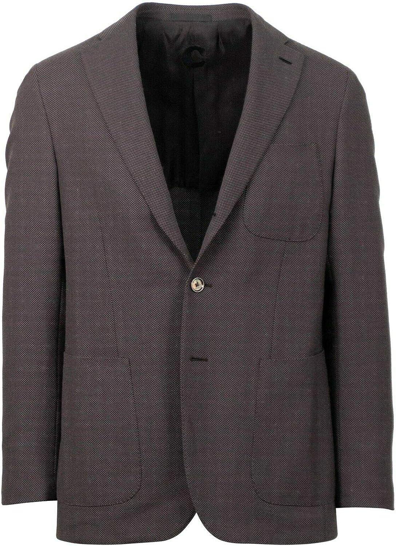 Caruso Brown Twill Cotton/Linen Blend 2 Button Sport Coat
