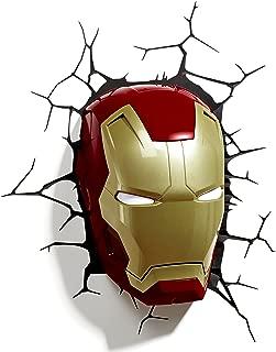 3D Light FX - Luz para Pared, diseño de máscara de Iron Man