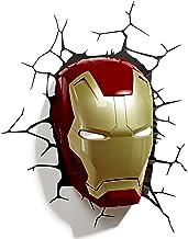 3D Light FX Marvel Iron Man Masker, 3D-decoratie, led-wandlamp