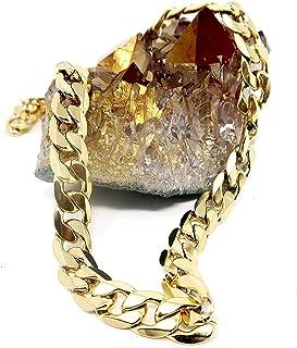 قلادتان من سلسلة ذهبية كوبية (24 بوصة و30 بوصة) مع ما يصل إلى 20 مرة أكثر من 24 قيراط من القلادات والمجوهرات الأنيقة الأخر...