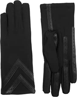 Women's Spandex Touchscreen Cold Weather Gloves with Warm Fleece Lining and Chevron Details