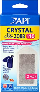 API CRYSTAL BIO-CHEM ZORB Filtration Cartridge, Cleans and clears aquarium water removing..