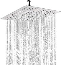 circulaire 10 pouces25x25 Pomme de douche /à effet pluie en/acier inoxydable/noir ultra-mince 2 mm 8//10//12 pouces mur et plafond Pomme de douche carr/ée et ronde /à effet pluie