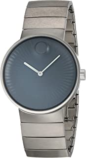 Movado Edge Black Dial Stainless Steel Men's Watch 3680006