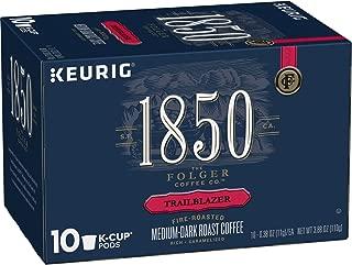 1850 by Folgers Coffee, Trailblazer, Medium Dark Roast Coffee, K Cup Pods for Keurig Coffee Makers, 60 Count