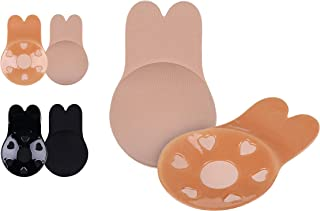 Adhesive Bras Invisible Breast Lift Bra Puch-up Pasties 2 Pairs Open Back Dresses Nipplecovers