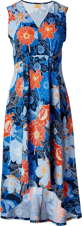 Ruby Rd. Women's Floral Puff Print Dress