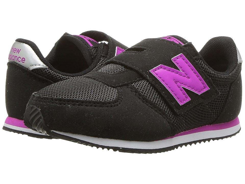 New Balance Kids KV220v1I (Infant/Toddler) (Black/Purple) Girls Shoes