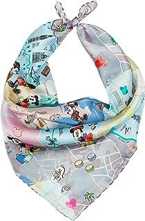 Codello aus Reiner Seide Mini Carré | Pequeño pañuelo de Seda Pura | Disney Edition con Mickey Mouse | 53 x 53 cm, gris cl...