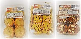 Combo of Butter Dry Fruit &KAJU Fruity&Choco BADAM Cookies(Pack of 3) 250 GM Each