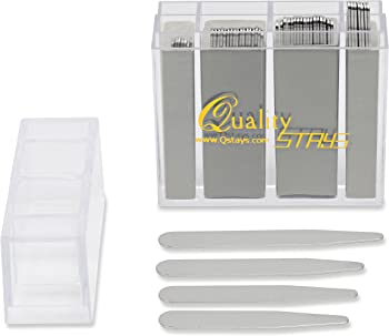 Quality Stays 52 Top Quality Metal Collar Stays (Mixed Sizes)
