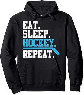 Hockey - Eat Sleep Repeat Tee Men Women Kids Sports Gift Pullover Hoodie