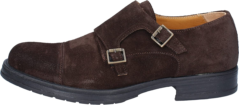 SALVO BARONE Elegante Schuhe Herren Wildleder braun