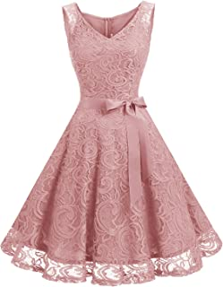 e5446c63857 Dressystar Robe Femme soirée Demoiselle d honneur Bal Col en V sans Manches